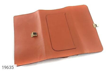 تصویر کیف چرم طبیعی عسلی دستی مدل فاخر - شماره 4