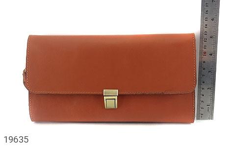 تصویر کیف چرم طبیعی عسلی دستی مدل فاخر - شماره 5