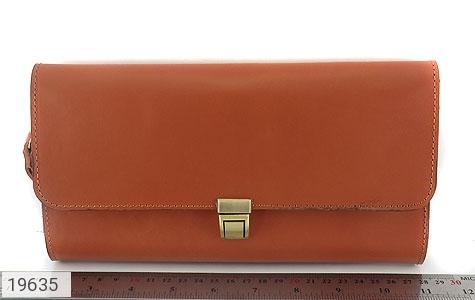 عکس کیف چرم طبیعی عسلی دستی مدل فاخر - شماره 6