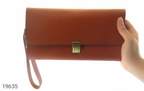 تصویر کیف چرم طبیعی عسلی دستی مدل فاخر - شماره 7