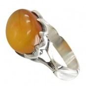 انگشتر عقیق زرد شرف الشمس طرح بهرنگ مردانه