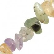 دستبند آمتیست و جید و کوارتز تراش طبیعی سنگ درمانی زنانه