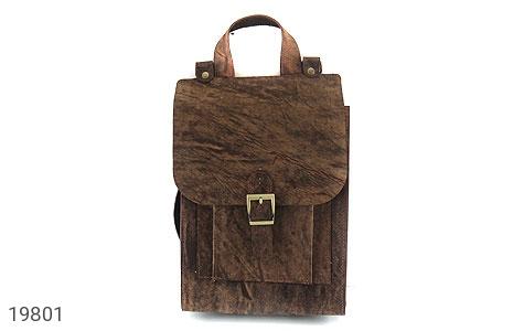 تصویر کیف چرم طبیعی خاکی طرح ابروبادی دستی یا دوشی اسپرت - شماره 2