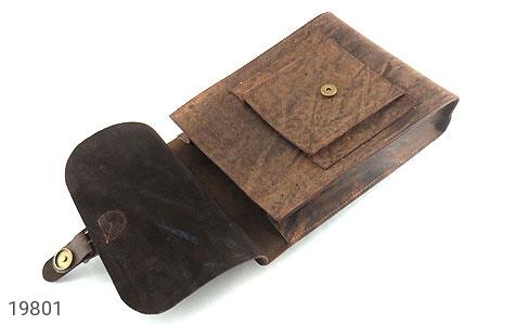 عکس کیف چرم طبیعی خاکی طرح ابروبادی دستی یا دوشی اسپرت - شماره 3