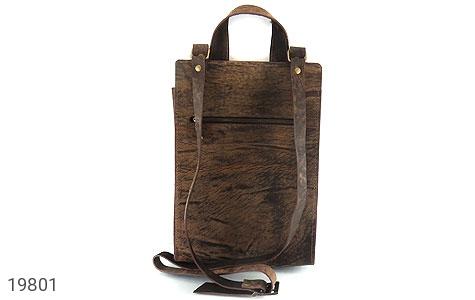 تصویر کیف چرم طبیعی خاکی طرح ابروبادی دستی یا دوشی اسپرت - شماره 4
