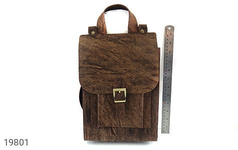 عکس کیف چرم طبیعی خاکی طرح ابروبادی دستی یا دوشی اسپرت - شماره 7