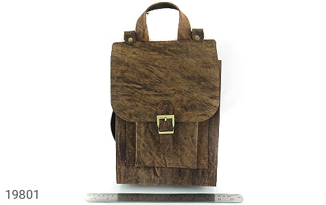 عکس کیف چرم طبیعی خاکی طرح ابروبادی دستی یا دوشی اسپرت - شماره 8
