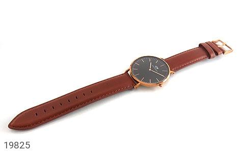 تصویر ساعت دنیل ولینگتون بند چرمی daniel wellington DW صفحه مشکی مردانه - شماره 2