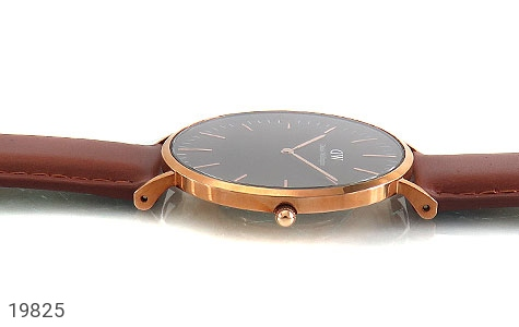 تصویر ساعت دنیل ولینگتون بند چرمی daniel wellington DW صفحه مشکی مردانه - شماره 4