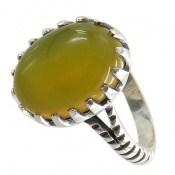 انگشتر نقره عقیق زرد شرف الشمس طرح ماهان مردانه