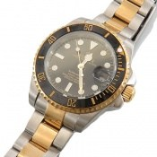 ساعت رولکس Rolex مجلسی دو رنگ زه قاب چرخشی مردانه