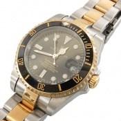 ساعت رولکس مجلسی دو رنگ زه قاب چرخشی زنانه Rolex
