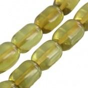 تسبیح کهربا 33 دانه سبز لیتوانی دریای بالتیک کم نظیر تراش استوانه ای