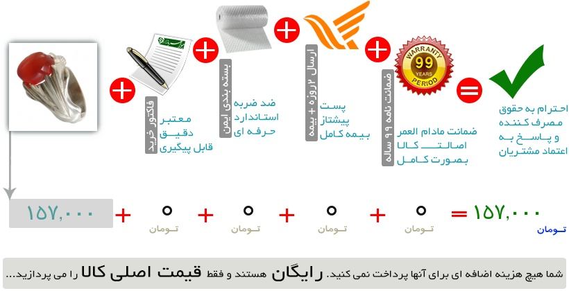 انگشتر عقیق یمنی خوش رنگ مردانه