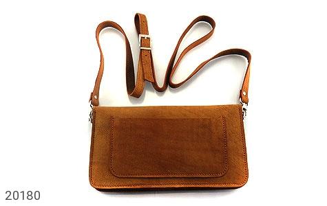 عکس کیف چرم طبیعی دستی یا دوشی زیبا زنانه