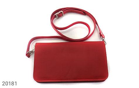 عکس کیف چرم طبیعی دستی یا دوشی قرمز لوکس زنانه