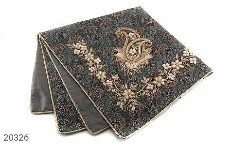 عکس ترمه رومیزی سایز بزرگ طرح سنتی و فاخر - شماره 1