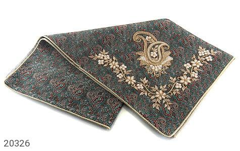 عکس ترمه رومیزی سایز بزرگ طرح سنتی و فاخر - شماره 2