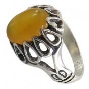انگشتر عقیق زرد شرف الشمس طرح شایان مردانه