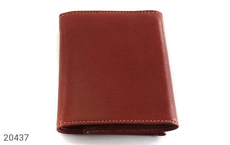 عکس کیف چرم طبیعی قهوه ای مایل به قرمز مدل جیبی دکمه دار - شماره 2