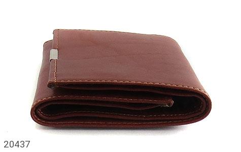 عکس کیف چرم طبیعی قهوه ای مایل به قرمز مدل جیبی دکمه دار - شماره 5
