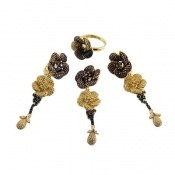 سرویس نقره طرح گل آویز سلطنتی زنانه