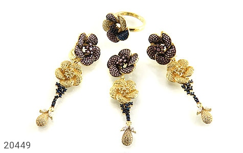 عکس سرویس نقره طرح گل آویز سلطنتی زنانه