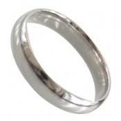 حلقه ازدواج نقره رینگ ساده باریک