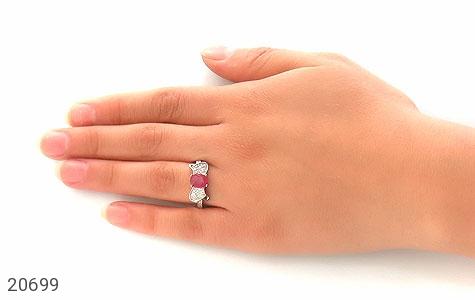 عکس انگشتر یاقوت سرخ طرح پاپیون زنانه - شماره 7