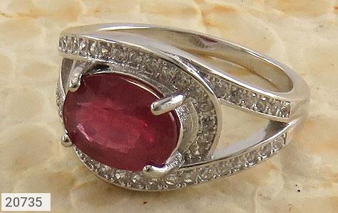 تصویر انگشتر یاقوت سرخ طرح مریلا زنانه - شماره 1