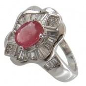 انگشتر یاقوت سرخ مجلسی زنانه