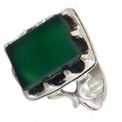 انگشتر عقیق سبز درشت طرح سلمان مردانه