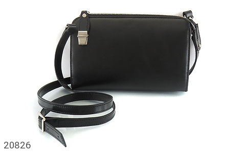 عکس کیف چرم طبیعی مشکی دستی یا دوشی شیک و اسپرت