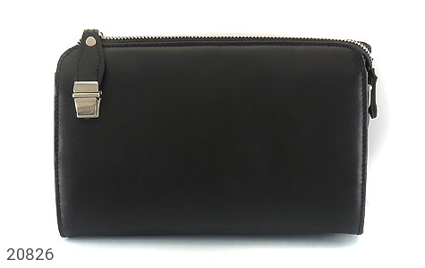 عکس کیف چرم طبیعی مشکی دستی یا دوشی شیک و اسپرت - شماره 2