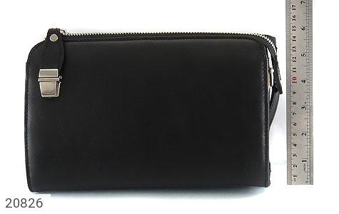 تصویر کیف چرم طبیعی مشکی دستی یا دوشی شیک و اسپرت - شماره 6
