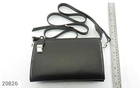 عکس کیف چرم طبیعی مشکی دستی یا دوشی شیک و اسپرت - شماره 7