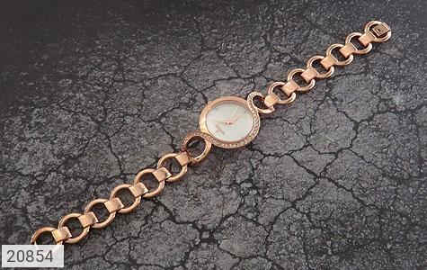 عکس ساعت رمانسون مجلسی دورنگین بند حلقه ای زنانه Romanson