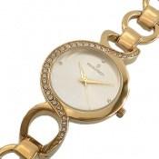 ساعت رمانسون Romanson مجلسی طلائی بند حلقه ای دورنگین زنانه