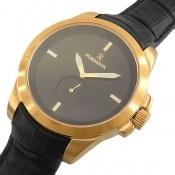 ساعت بند چرمی رمانسون Romanson زیرثانیه طلائی مردانه