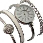 ساعت کلوین تایم مجلسی نگین دار ست دستبند زنانه Kelvin Time