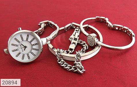 عکس ساعت کلوین تایم مجلسی نگین دار ست دستبند زنانه Kelvin Time