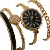 ساعت کلوین تایم Kelvin Time مجلسی نگین دار با دستبند ست زنانه