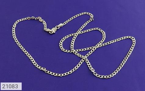 عکس زنجیر نقره طرح حلقه ای 46 سانتی