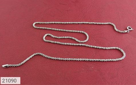 تصویر زنجیر نقره طرح پیچک 51 سانتی - شماره 2