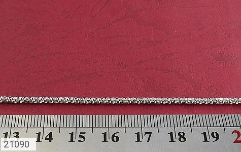 عکس زنجیر نقره طرح پیچک 51 سانتی - شماره 4