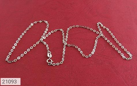 عکس زنجیر نقره طرح حلقه ای 51 سانتی زنانه