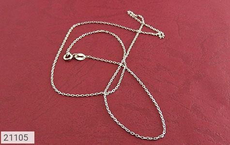 عکس زنجیر نقره طرح حلقه ای 45 سانتی زنانه