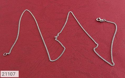 تصویر زنجیر نقره طرح حلقه ای 40 سانتی زنانه - شماره 1