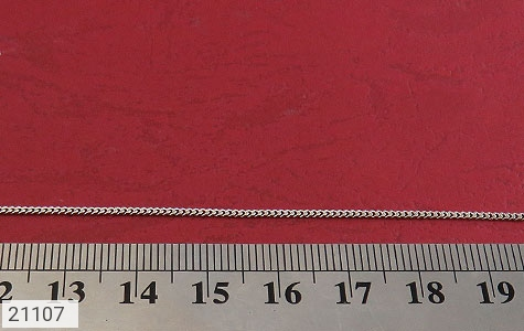 تصویر زنجیر نقره طرح حلقه ای 40 سانتی زنانه - شماره 2