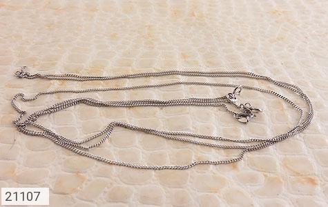 عکس زنجیر نقره طرح حلقه ای 40 سانتی زنانه - شماره 4